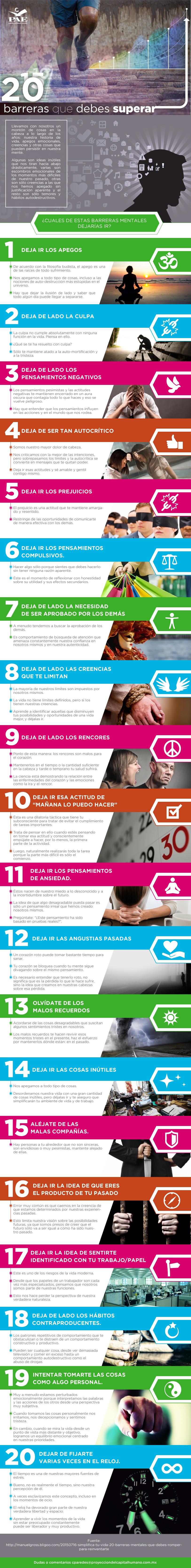 #PAEMX 20 Barreras que Debes Superar. Innovación Profesional