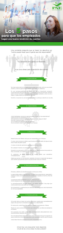 #PAEMX Los 5 pasos para que los empleados hagan una buena rendición de cuentas