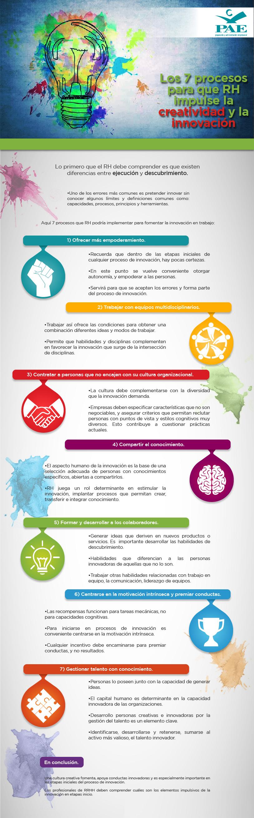 #PAEMX Los 7 procesos para que RH impulse la creatividad y la innovación