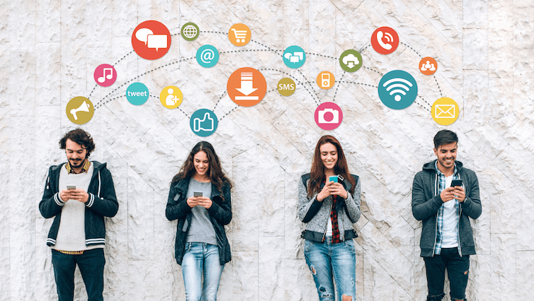 redes sociales millennials